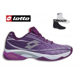 Zapatillas LOTTO MIRAGE 300 CLAY VIOLETA-BLANCO WOMAN