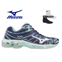Zapatillas MIZUNO WAVE VOLTAGE MARINO y AZUL